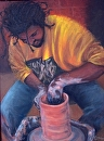 The Potter by  Oklahoma Lady Artists Oil ~ 24 x 20