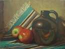 Little Brown Jug by  Oklahoma Lady Artists Acrylic ~ 12 x 16