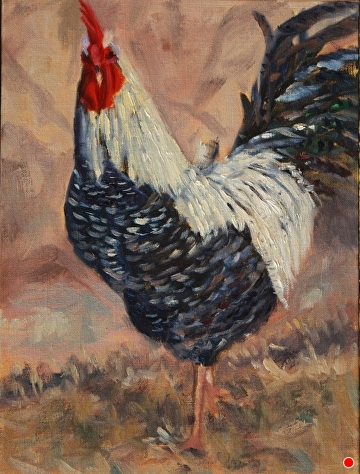 The Boss by  Oklahoma Lady Artists Oil ~ 12 x 9