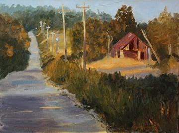 Those Oklahoma Hills by  Oklahoma Lady Artists Oil ~ 12 x 16