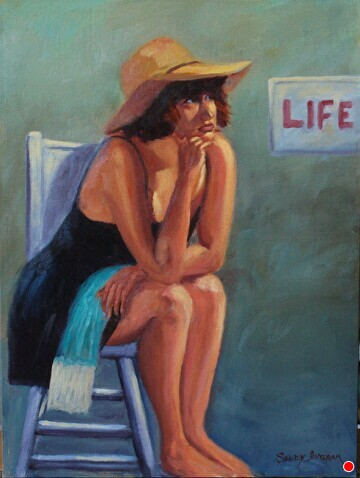 Life Girl by  Oklahoma Lady Artists Oil ~ 16 x 12