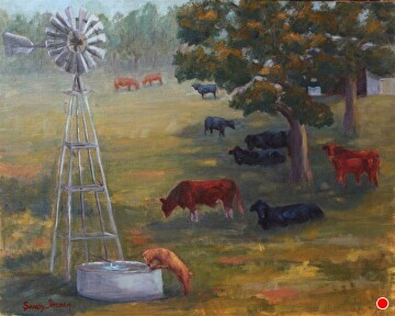 The Social Hour by  Oklahoma Lady Artists Oil ~ 16 x 20