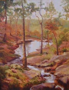 A Secret Place by  Oklahoma Lady Artists Oil ~ 28 x 22