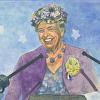 Eleanor Roosevelt at Podium