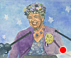 "Eleanor Roosevelt at Podium by Robert Casilla Watercolor ~ 8"" x 11"""