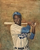 "Jackie Robinson by Robert Casilla Limited Edition Print ~ 15"" x 21"""