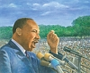 "Martin Luther King Jr by Robert Casilla Limited Edition Print ~ 15"" x 18"""
