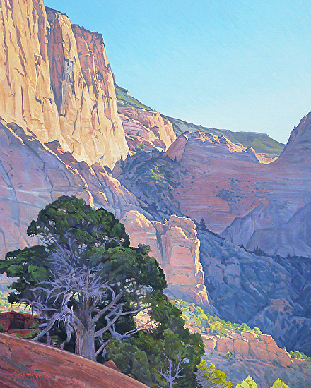 Morning Light - Kolob Canyon, Zion National Park - Oil
