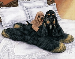 Ladies of Leisure(Black@Tan version) by Peggy Bang  ~ 12 x 16