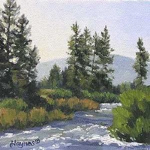 """Summer Morning by Sandra Haynes Oil ~ 5"""" x 5"""""""
