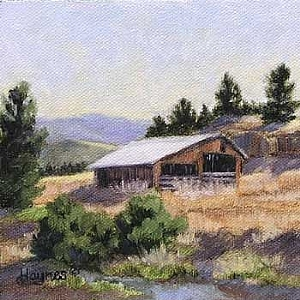 "Afternoon Light by Sandra Haynes Oil ~ 5"" x 5"""