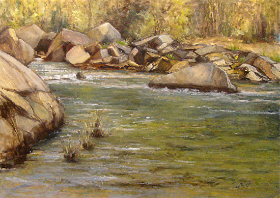 Spring on the Big South Fork - Oil