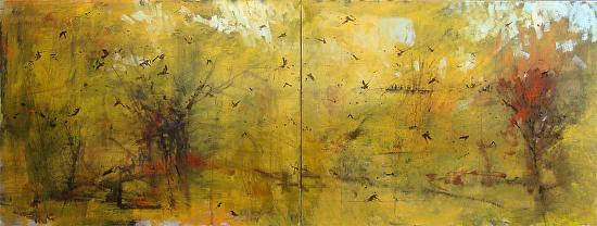 Birds (diptych) - Oil