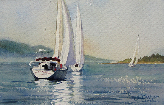 My most recent painting a sailboat painting from last week