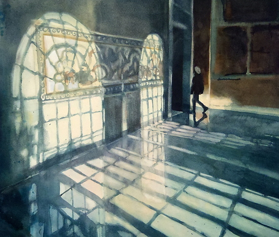 The Visitor-Baltimore Museum of Art - Watercolor