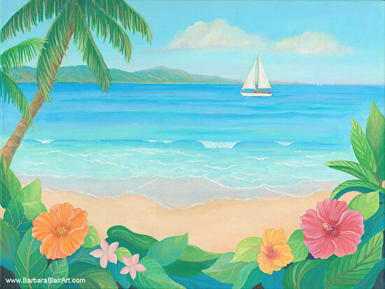 Sailing On Summer Breezes - Acrylic