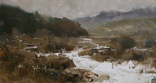January by Tibor Nagy Oil ~ 9 x 16