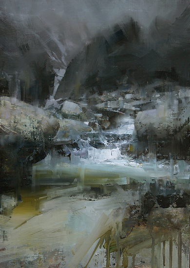 After the Rain by Tibor Nagy Oil ~ 18 x 12