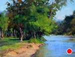 Down River by Susan Ogilvie Pastel ~ 12 x 16