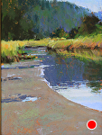 Salt Creek Reflections by Susan Ogilvie Pastel ~ 12 x 9