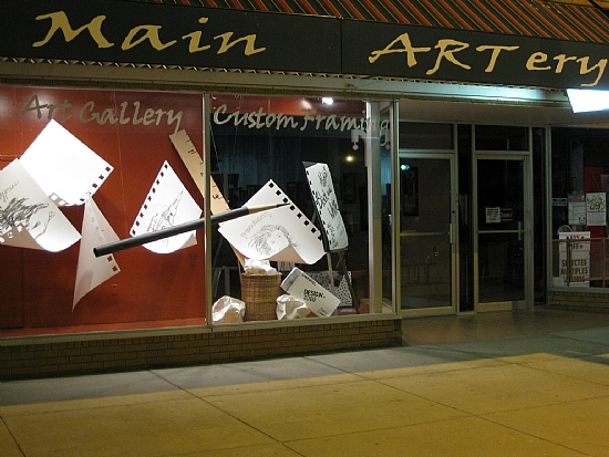 Main ARTery Gallery Window -