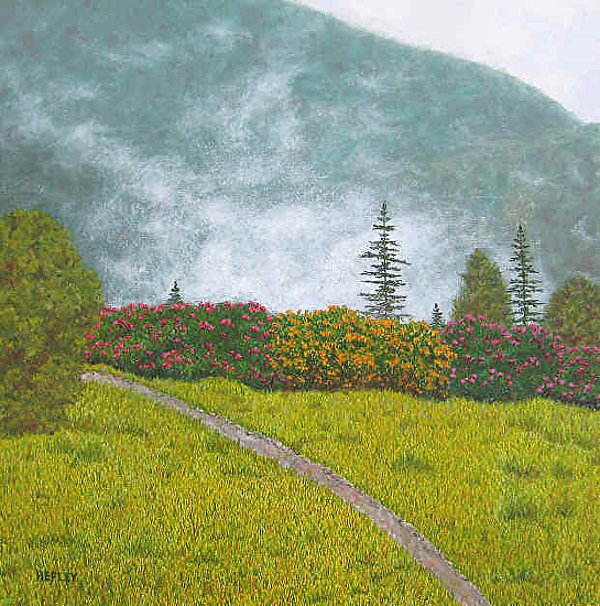 Misty Day on Roan Mountain - Oil