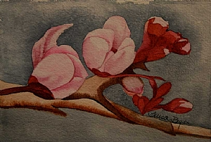 Blossom by Teresa Beyer Watercolor ~ 5 x 7.5