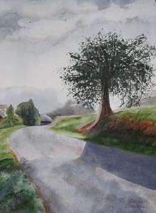 Tree by Teresa Beyer Watercolor ~ 15 x 11