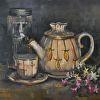 Tea Light, Tea Pot and Flowers