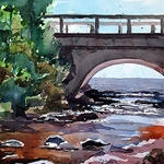 Spencer Meagher - ONLINE Rushing Water in Watercolor - Eureka Springs, AR