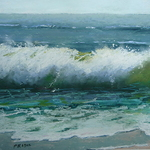 Jan Prisco - Painting Seascapes, Waves and Water in Pastel