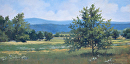 View from the Eisenhower Farm by Claire Beadon Carnell Oil ~ 10 x 20