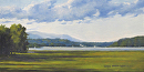 Summer Along the Hudson by Claire Beadon Carnell Oil ~ 8 x 16