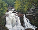 Blackwater Falls by Claire Beadon Carnell Oil ~ 24 x 30