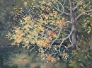 Fall Along Fuller Lake by Claire Beadon Carnell Oil ~  x