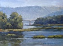 Susquehanna River At West Fairview by Claire Beadon Carnell Oil ~  x