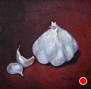 Buddha Garlic by Claire Beadon Carnell Oil ~ 6 x 6