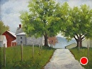 Thompson Farm by Claire Beadon Carnell Oil ~  x