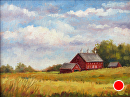 The Codori Farm (Gettysburg Battlefield) by Claire Beadon Carnell Oil ~ 6 x 8