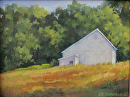 White Barns On The Battlefield (Gettysburg Battlefield) by Claire Beadon Carnell Oil ~ 6 x 8