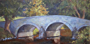 Burnside Bridge (Antietam Battlefield) by Claire Beadon Carnell Oil ~ 8 x 16