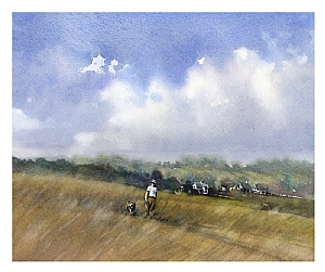 dad by Thomas W. Schaller Watercolor ~ 12 inches x 15 inches