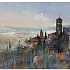 """the fields of assisi"" by Thomas  W. Schaller Watercolor ~ 22 inches x 30 inches"