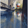 reflection - vancouver by Thomas  W. Schaller Watercolor ~ 22 inches x 15 inches