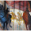 carousel - central park by Thomas  W. Schaller Watercolor ~ 18 inches x 24 inches