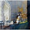 chambers street - nyc by Thomas  W. Schaller Watercolor ~ 22 inches x 30 inches