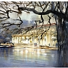 boathouse - prospect park by Thomas  W. Schaller Watercolor ~ 18 inches x 24 inches