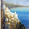 santorini by Thomas  W. Schaller Watercolor ~ 24 inches x 18 inches