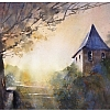 chapel - le vieux couvent by Thomas  W. Schaller Watercolor ~ 16 inches x 24 inches
