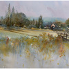 meadow - france by Thomas  W. Schaller Watercolor ~ 18 inches x 24 inches